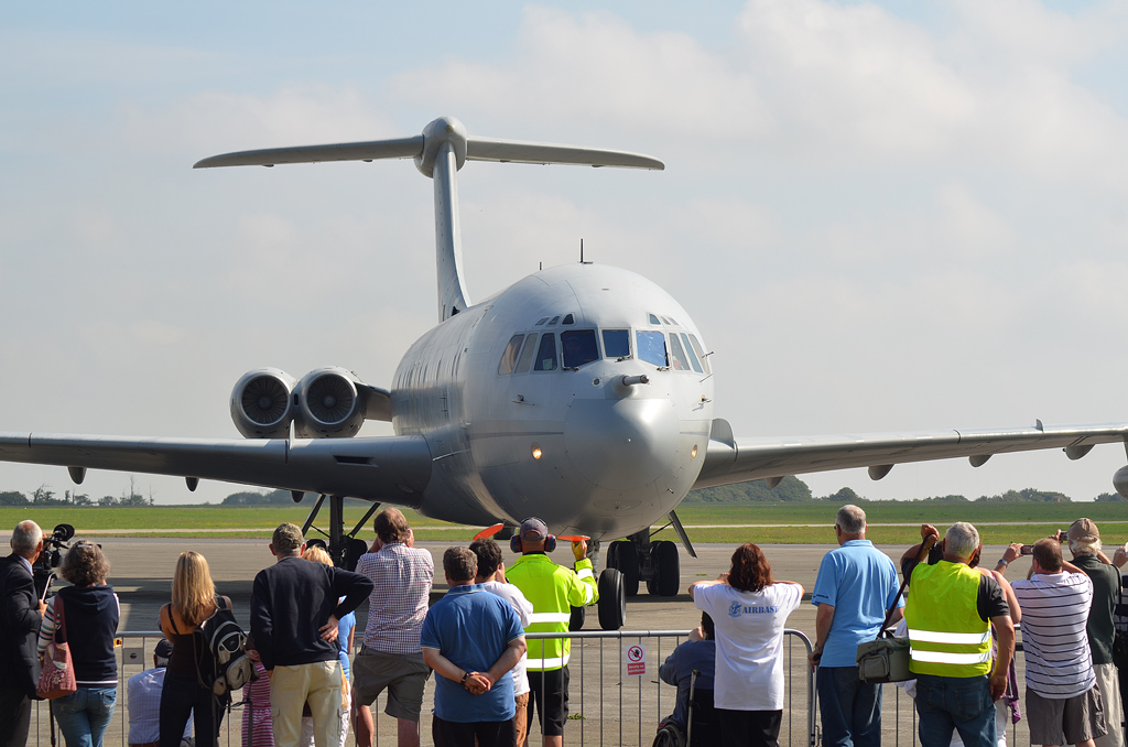 A healthy crowd was present at Newquay to witness ZA148's arrival - Courtesy Classic Air Force - www.classicairforce.com